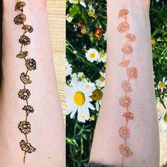 Daisy chain henna tattoo on arm