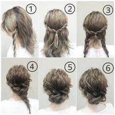 , , Abschlussball-Frisuren, in 2020 Nurse Hairstyles, Prom Hairstyles For Short Hair, Short Hair Updo, Bride Hairstyles, Bridesmaid Hairstyles, Funky Hairstyles, Formal Hairstyles, Medium Hair Braids, Easy Updos For Medium Hair