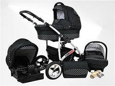 True Love Larmax 3 in 1 Pram Combi Stroller & Pushchair Complete Set (car seat incl. adapter, rain cover, mosquito net, swivel wheels, 18 colors) 13 Cosmic Black & Snowflakes, http://www.amazon.co.uk/dp/B00PCEUJ9Q/ref=cm_sw_r_pi_awdl_s.p8vb1VNY0ET