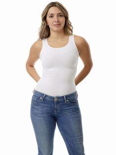 48caf35b77 Underworks Women s Ultra Light Cotton Spandex Compression Tank