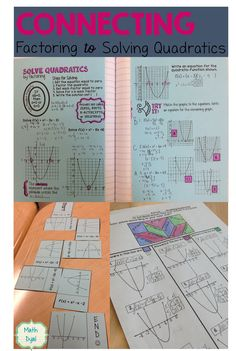 Solve quadratic equations by factoring with these fun hands-on activities. Math Dyal