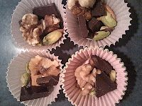 Dark Chocolate and Mixed Nuts in mini cupcake papers - fun snack for a party
