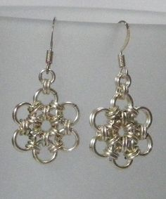 Daisy Drop Chainmaille Earings £8.50