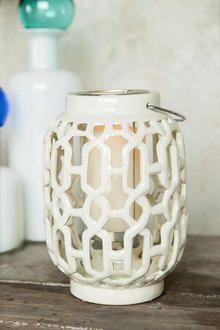 Ceramic White Lantern