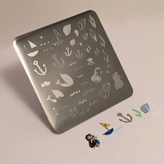 Clear Jelly Stamper Stamping Plate - Mermaid Doodle #1