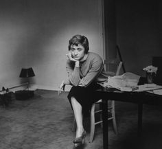 Françoise Sagan by Jeanloup Sieff, Paris 1956.