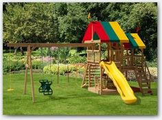 17 Trendy Ideas For Backyard Big Swing Sets Backyard Bbq Pit, Backyard Swing Sets, No Grass Backyard, Backyard Hammock, Backyard Playground, Backyard Layout, Backyard Garden Design, Patio Grande, Backyard Wedding Decorations