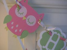 Owl Birthday Banner by PinkPaperCottage on Etsy