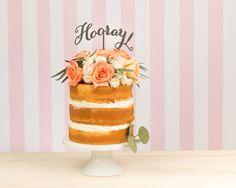 Hooray Cake Topper by BetterOffWed