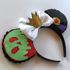 A personal favorite from my Etsy shop https://www.etsy.com/listing/264965566/magic-mouse-ears-villain-evil-queen