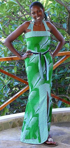 This is a real African Style long Dress.