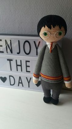"""Crochet Lalylala """" Harry Potter """".. Harry Potter Knit, Harry Potter Dolls, Harry Potter Food, Harry Potter Outfits, Harry Potter Gifts, Knit Or Crochet, Crochet Dolls, Funny Boyfriend Gifts, Harry Potter Christmas"""