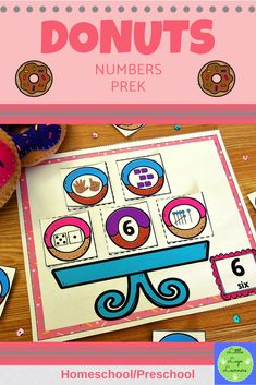 These Donuts Number Lessons are the perfect addition for Math Centers for homeschool/ preschool. This time saving, leveled resource is engaging with its vibrant pictures and stimulating content! Your multi-aged 4-6 year old children will enjoy learning about Donuts and numbers with these interactive lessons. Numbers Preschool, Preschool Math, Morning Activities, Number Activities, Time Saving, Number Sense, Math Centers, Donuts, Children