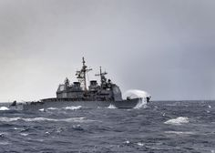 ATLANTIC OCEAN (March 30, 2015) The guided missile-cruiser USS Anzio (CG 68) is en route to Scotland to participate in exercise Joint Warrior, a United Kingdom-led semi-annual multinational cooperative training exercise. (U.S. Navy photo by Mass Communication Specialist Seaman Ryan U. Kledzik/Released)