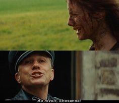 Hans Landa n Shosanna Dreyfus. Inglorious Basterds, 2009!