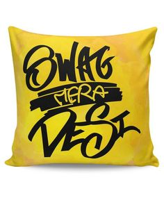 Looking for Quirky Cushion Covers & Pillows? Buy Swag Mera Desi Typography Cushion Cover at PosterGuy. Typography Cushions, Cool Posters, Cushion Covers, Free Delivery, Cod, Desi, Swag, Throw Pillows, Toss Pillows