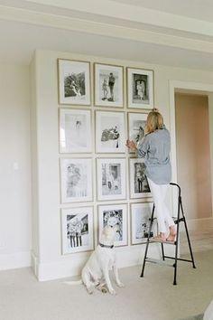 fotowand gestalten schöne akzentwand im wohnzimmer kreieren