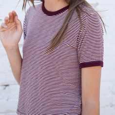 brandy Melville striped tee new with tags! no flaws. Bundle to save! Brandy Melville Tops Tees - Short Sleeve