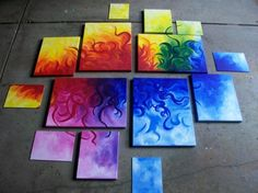 Pretty arrangement of canvases