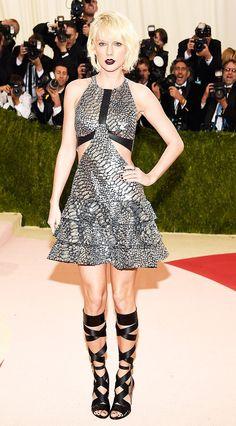 Met Gala 2016: The Best Red Carpet Looks via @WhoWhatWear | WHO: Taylor Swift WEAR: Louis Vuitton dress; Eva Fehren jewelry