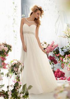 amodabridal.com.au SUPPLIES Sheath/Column Jewel Cute Empire Beading Wedding Dress Cairns Beach Wedding Dresses