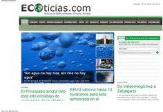 Ecoticias es un portal que facilita información y noticias de última hora sobre medio ambiente, energías renovables y ecología. Portal, Desktop Screenshot, Environmental Science, Renewable Energy