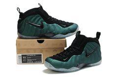 Cheap Foamposite Pro Dark Pine Black 314996 001 Basketball Shoes