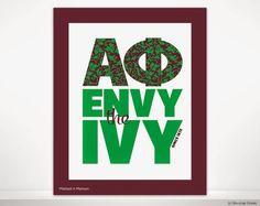 Alpha Phi International: Envy the Ivy Wall Print