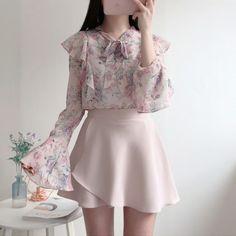 Romantic Flower Blouse - Pink