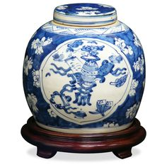 Porcelain Blue & White Jar