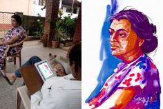 Portrait by Sathish BR on iPad with Auryn Ink