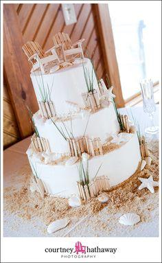 Beach Wedding Cake, OBX Wedding, Outer Banks, Outer Banks Wedding, Hilton Pier House Wedding, Hilton Pier House, www.courtneyhathaway.com