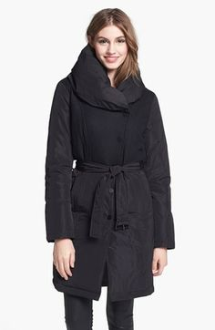 Kenneth Cole New York Flannel Bodice Down & Feather Coat available at #Nordstrom