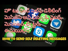 How to Send Self Deleting Messages on Whatsapp - Facebook - Viber- Messe...