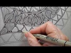 Drifts Tangle Pattern Lesson #146 - YouTube
