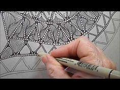 Inkidoodles.com  Melinda Barlow CZT : Drifts Tangle Pattern Lesson #146