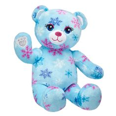 This beautiful winter teddy bear is Snow Much Fun with its wintry blue fur and colorful snowflake pattern. Personalize your furry friend today at Build-A-Bear! Teddy Bear Shop, Teddy Bear Gifts, Cute Teddy Bears, Mickey Mouse Steamboat Willie, Teddy Bear Pictures, Bear Pics, Snow Much Fun, Acrylic Craft Paint, Blue Gift