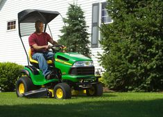 View John Deere attachments and implements for riding lawn equipment and find the perfect one for your needs. John Deere Lawn Mower, John Deere Tractors, Types Of Lawn, Garage Organisation, Yard Maintenance, Riding Mower, Backyard Landscaping, Canopy, Garden Design