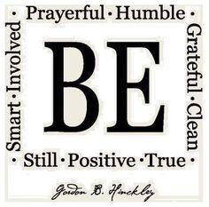 Be-attitudes!