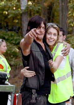 New Walking Dead Daryl Dixon behind the scenes pictures cant wait for the new season !