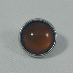 1 PC - 12MM Brown Glass Dome Silver Charm for Candy Snap Jewelry Limited Edition CC0119