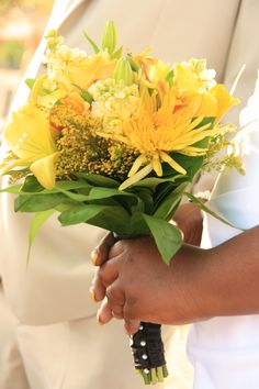 25 best wedding venue in hot springs beautiful bouquets images on the variety of yellow flowers in this bouquet is perfect for a spring wedding mightylinksfo