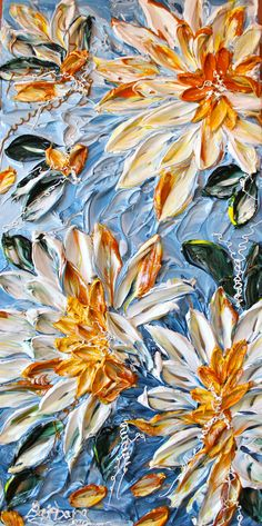 "Original Barbara Scharpf Acrylics,  palet knife,  ""Sunshine On My Shoulders"""