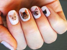 Cat Nail Decals op Etsy, 5,93€