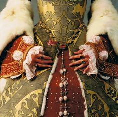 Catherine Parr reproduction gown.