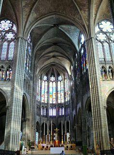 """aparthistorystudy: """"Saint Denis (rebuilt in c. 1135-1144) - Abbot Suger Gothic, Paris, France """""""