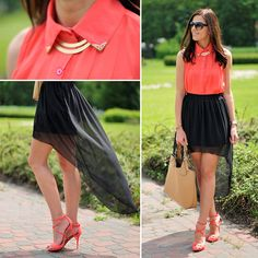 Outfits with Hi-Low-skirts. Hi-low skirts are new swag that not only keeps the finest clothes up to date, but also immensely refined when worn on the . Hi Low Outfits, Cool Outfits, Fashion Outfits, Fashion Styles, Diy Fashion, Skater Skirt Outfit, Skirt Outfits, All White Party Dresses, Skirt Tumblr
