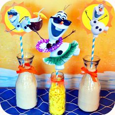 Disney Frozen Birthday Party Center Pieces por KraftsbyKaleigh