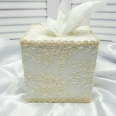 This tissue box features a wooden tissue box which i have handpainted