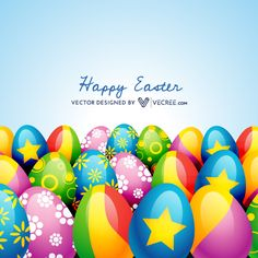 Colorful Easter Eggs With Different Designs Free Vector Download - https://vecree.com/2325107/colorful-easter-eggs-with-different-designs-free-vector-download/